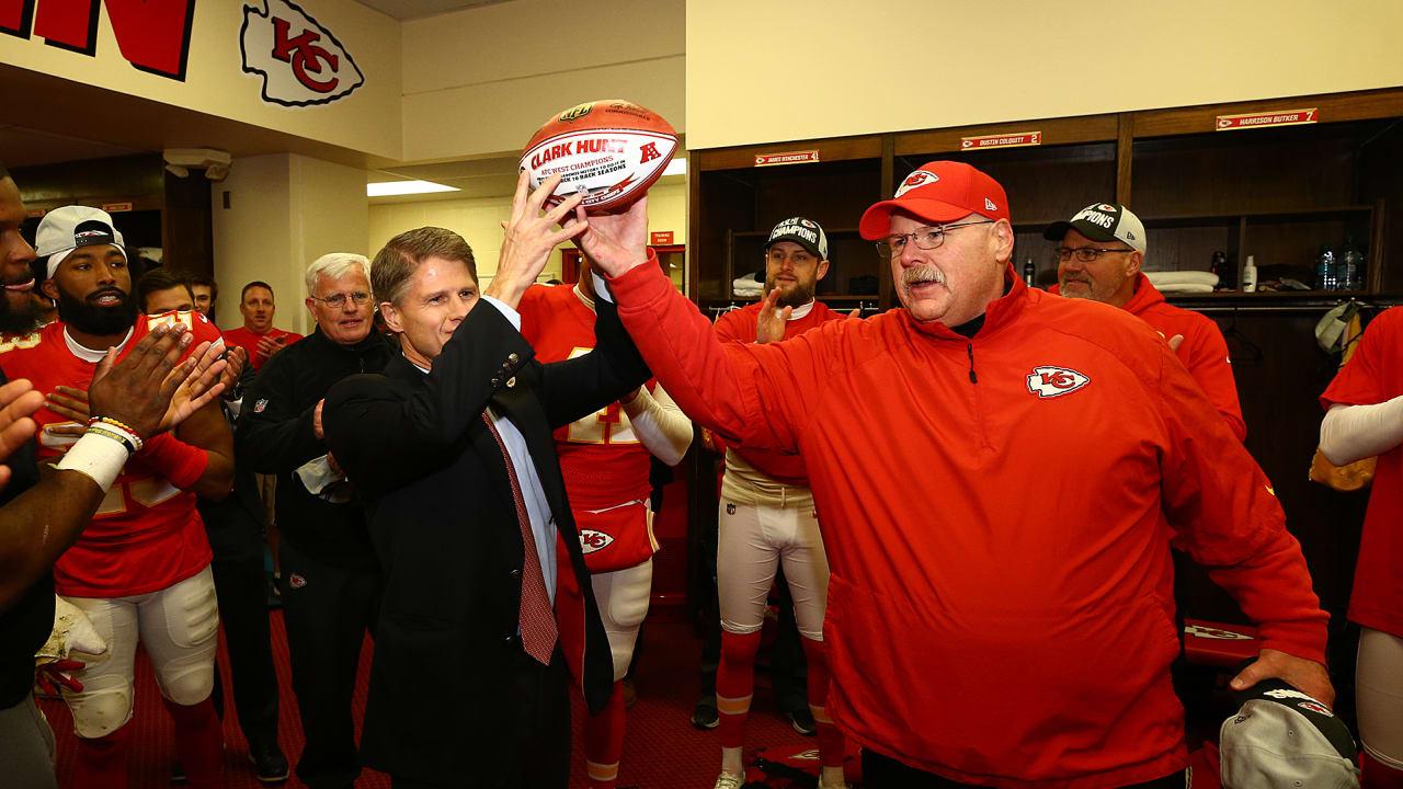 054b0349545 Chiefs vs. Raiders  Locker Room Celebration
