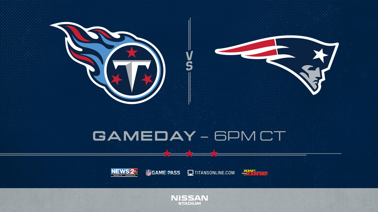 e66232bf How to Watch/Listen: Titans-Patriots TV, Streaming and Radio Information