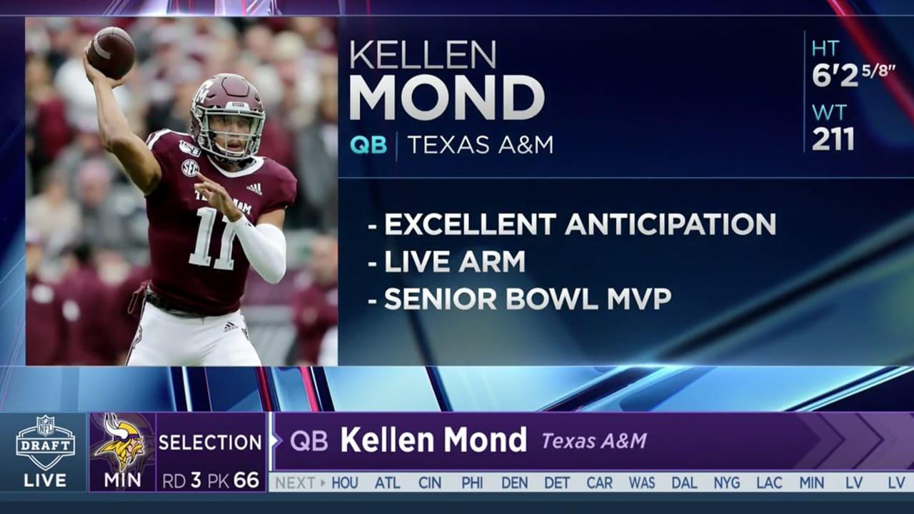 Vikings Select QB Kellen Mond In Round 3 of the 2021 NFL Draft