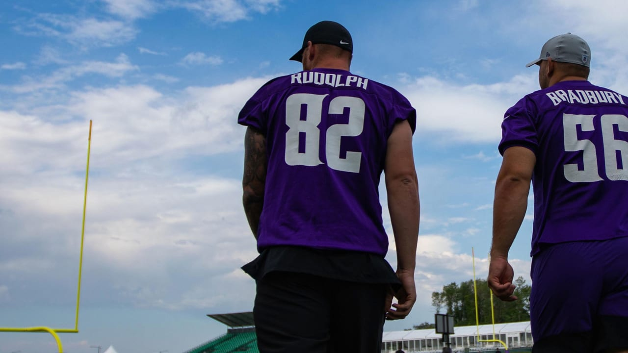 online retailer 14c12 73417 3 Observations: Rudolph Shines in Vikings 1st Full-Team Practice