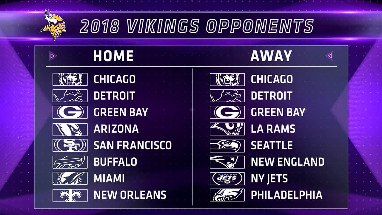 Mn vikings schedule 2019