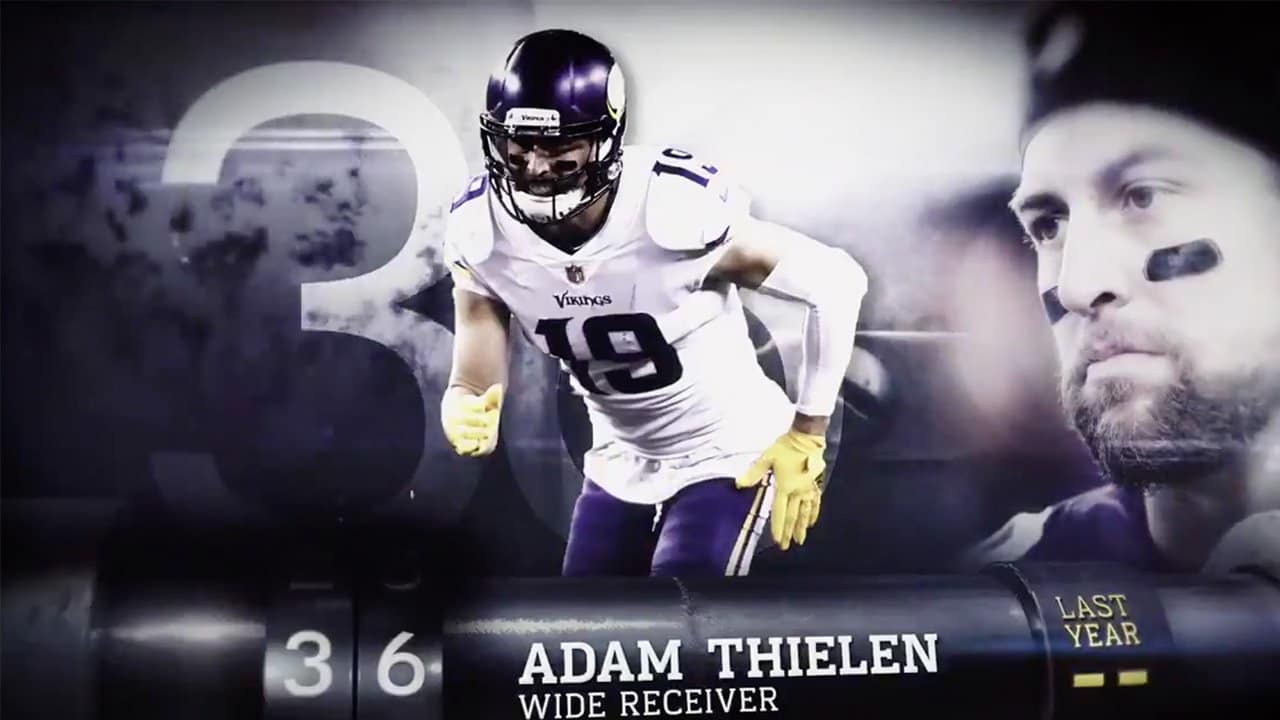 Top 100 Players of 2018  Adam Thielen at No. 36 0ebf428a4