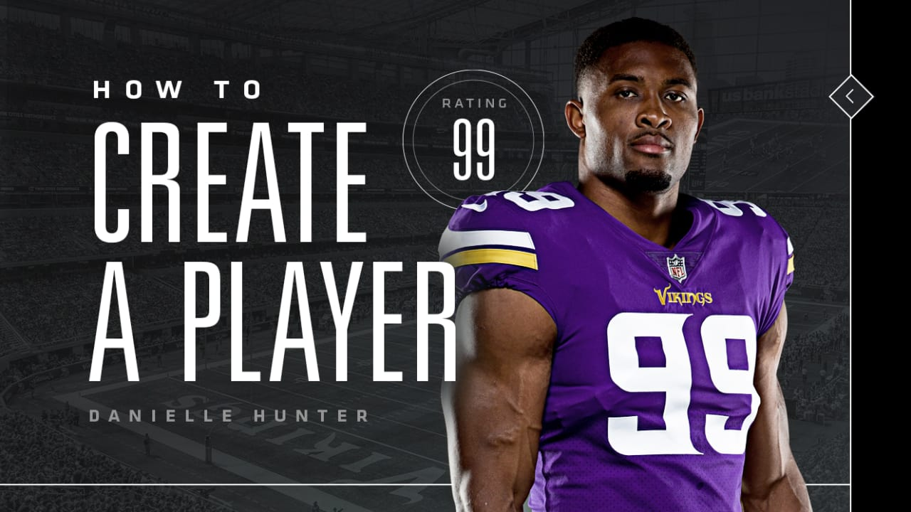 sports shoes 07c7d 4b2fe Danielle Hunter: How to Create A Player