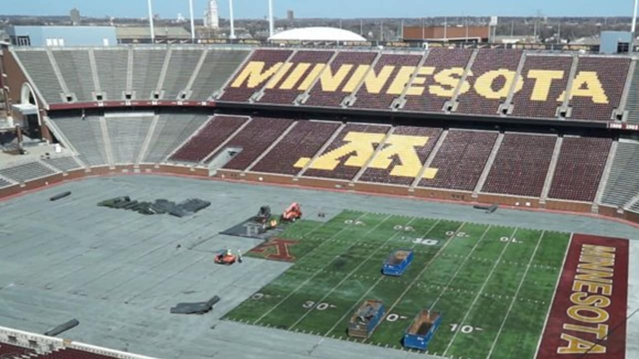 Turf Is Removed At The U of M