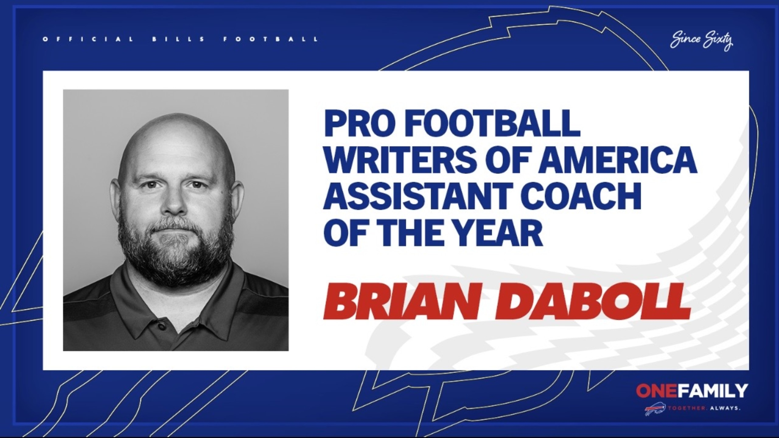 PFWA names Brian Daboll the Assistant Coach of the Year, Brandon Beane the Executive of the Year