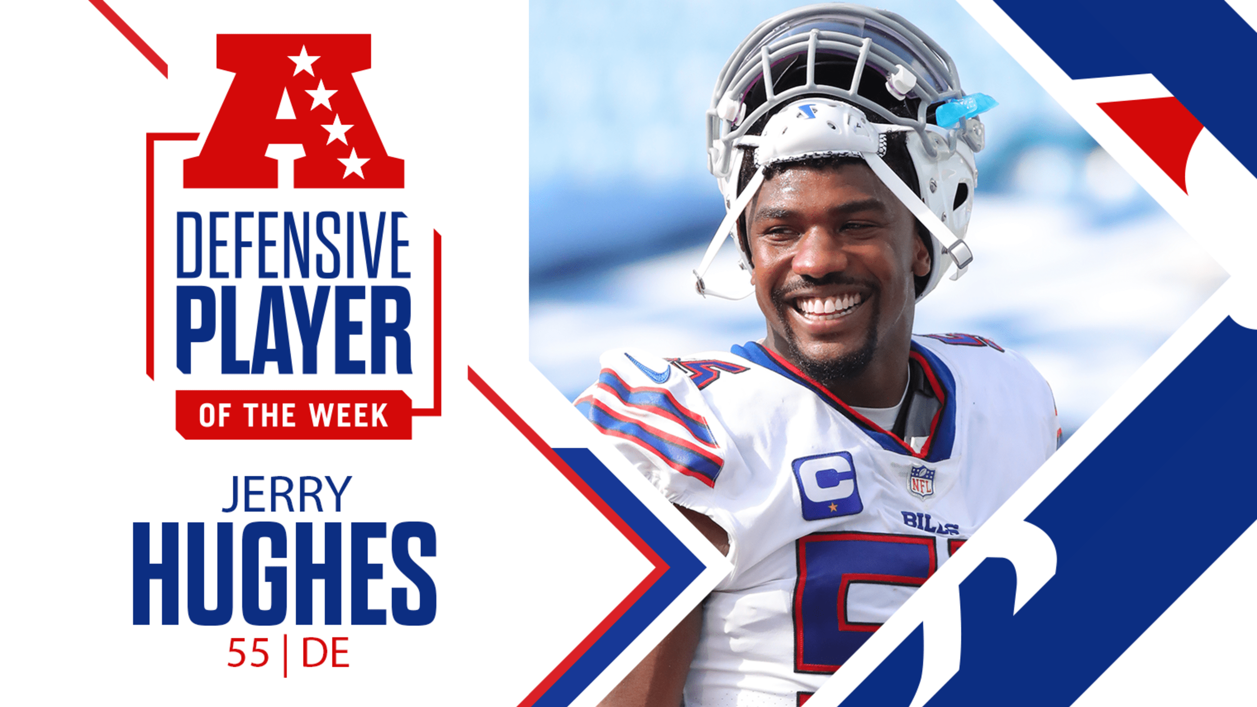 Bills DE Jerry Hughes named AFC Defensive Player of the Week for Week 7