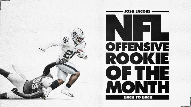 Josh Jacobs Player of the Month