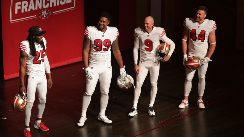 49ers Unveil Alternate Throwback Uniforms At Annual State Of The Franchise Event