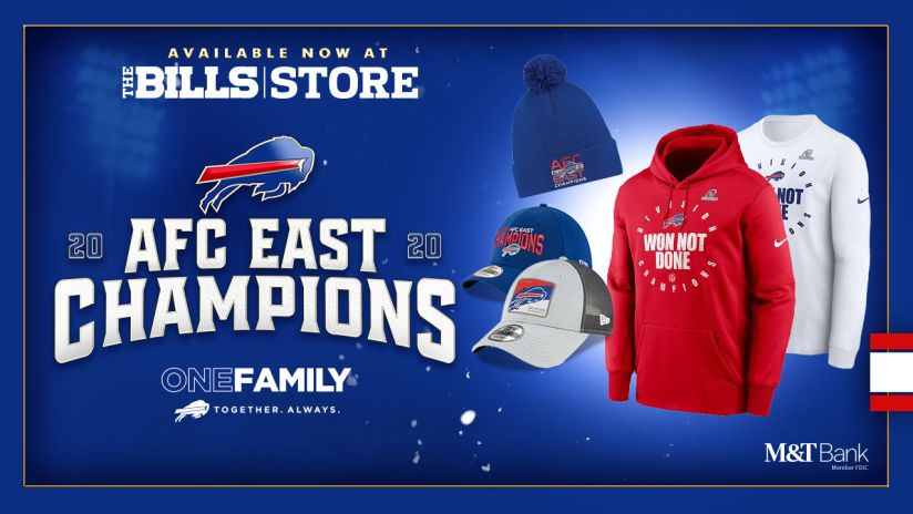 Afc East Champions Merchandise Available At The Bills Store