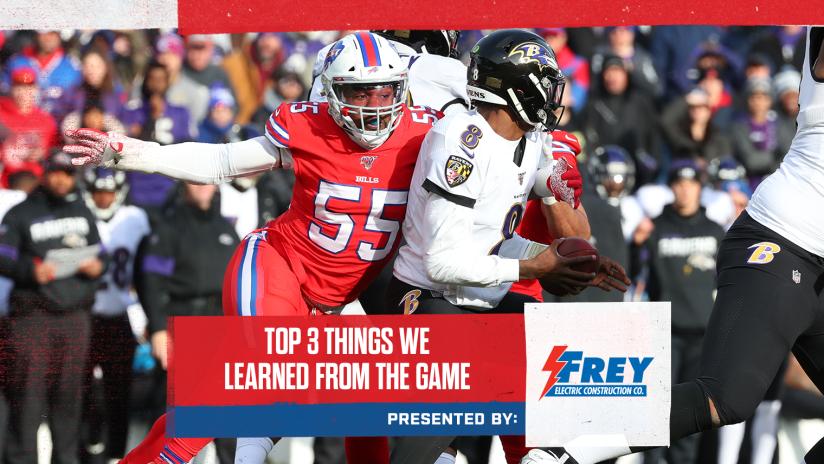 Top 3 Things We Learned From Bills Vs Ravens Week 14