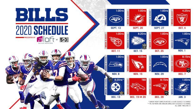 2020 Buffalo Bills Schedule: Complete schedule, tickets and match ...