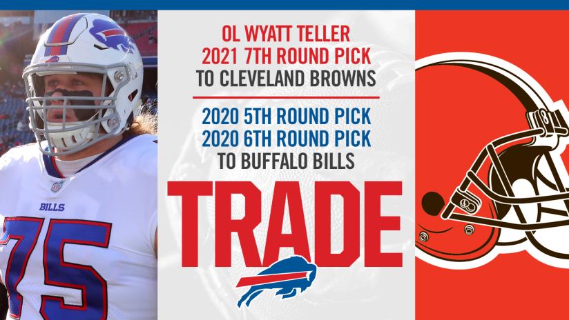 new style 4e1cc 5d4dd Bills acquire two draft picks for OL Wyatt Teller