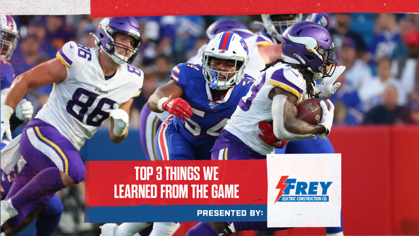the latest 5aaa8 60b54 Top 3 things we learned from Bills vs. Vikings | Preseason ...