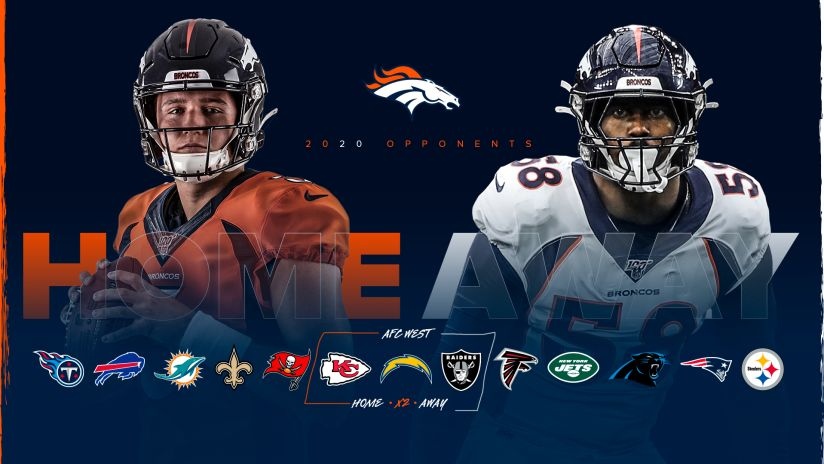 As 2019 Season Concludes Broncos 2020 Opponents Finalized