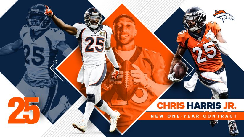 Broncos agree with Chris Harris Jr. on new one-year contract