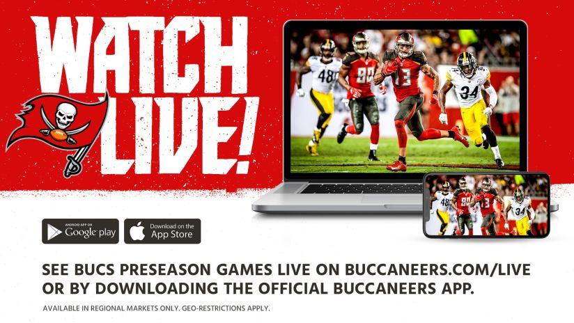 9611e1c4 Buccaneers to Live Stream All Four 2019 Preseason Matchups