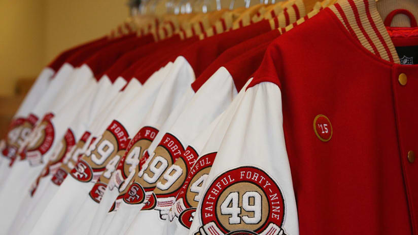 fdab5251a8f5a The newest tradition in San Francisco 49ers apparel is finally here. Long  have 49ers fans worn attire of the team s iconic red and gold