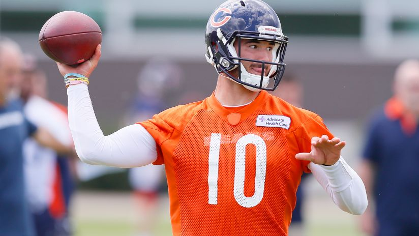 be7d4c2e807 Mitchell Trubisky spoke to the media Wednesday during Bears minicamp at  Halas Hall. It was his last session with reporters until the start of  training camp.
