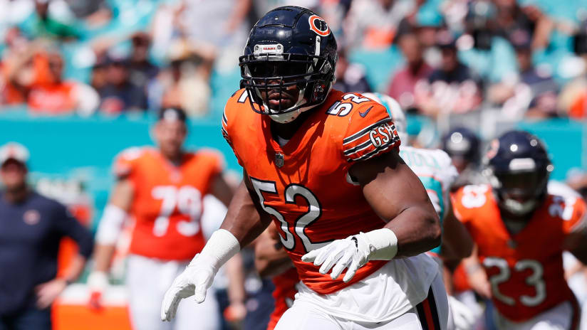 0c6b46ddd7d Bears outside linebacker Khalil Mack did not practice Wednesday and is day -to-day with an ankle injury he sustained in last Sunday s loss to the  Dolphins.
