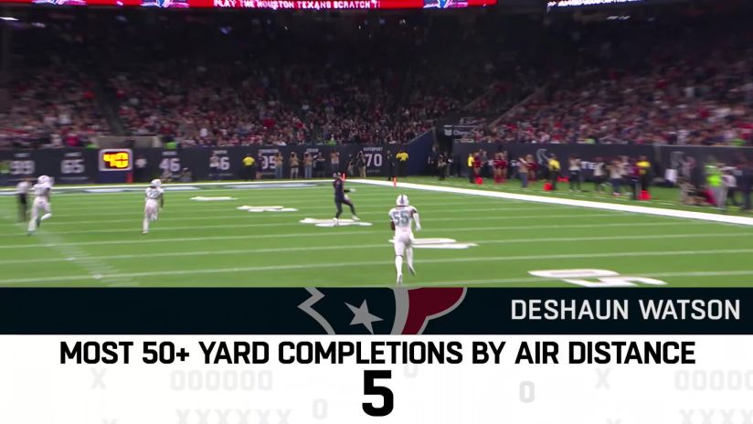 c664f6a70ab Trubisky led NFL with most completions of 50+ yards by air distance in 2018