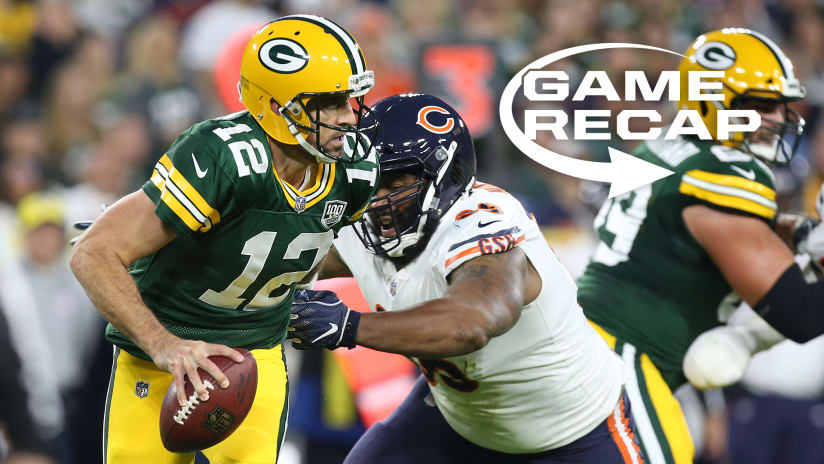16d6a9d4eca GREEN BAY, Wis. – When Cody Parkey's 33-yard field goal gave the Bears a  20-0 lead early in the third quarter of Sunday night's season opener, ...