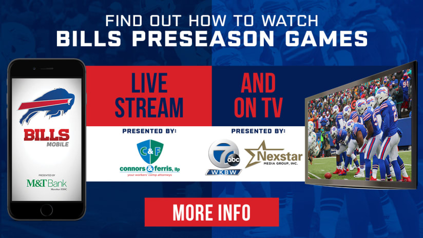 1065fb1379e How to watch Bills 2018 preseason games
