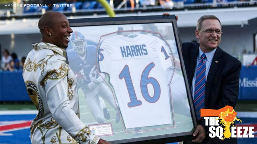 The Squeeze Chris Harris Jr Inducted Into Kansas Football Ring Of