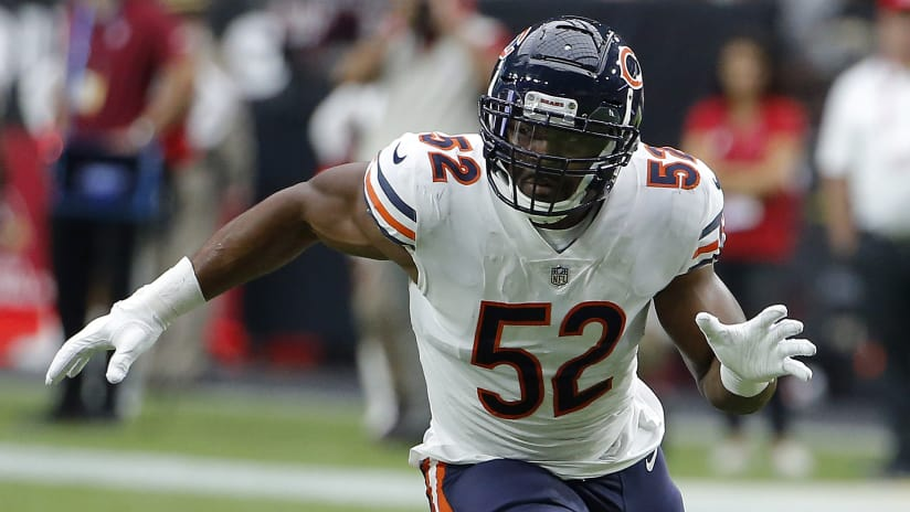 4556d9095 Chicago Bears linebacker Khalil Mack (52) in the first half during an NFL  football
