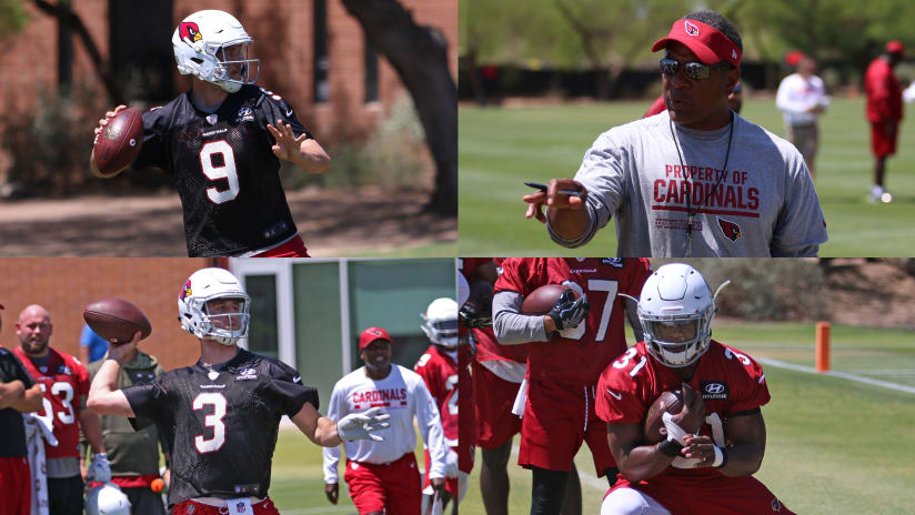 Questions facing the Cardinals heading into training camp (clockwise from  top left) include Sam b485d2858
