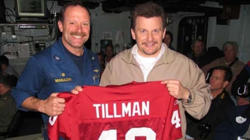 huge discount 830f2 81910 Tillman at Center of Navy Visit