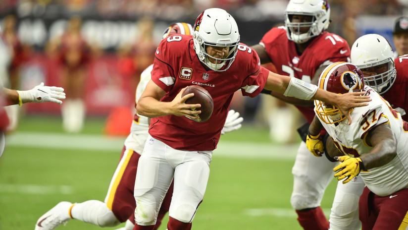 QB Sam Bradford is pressured in Sunday s loss to Washington. Photo by  Arizona Cardinals 83503203f