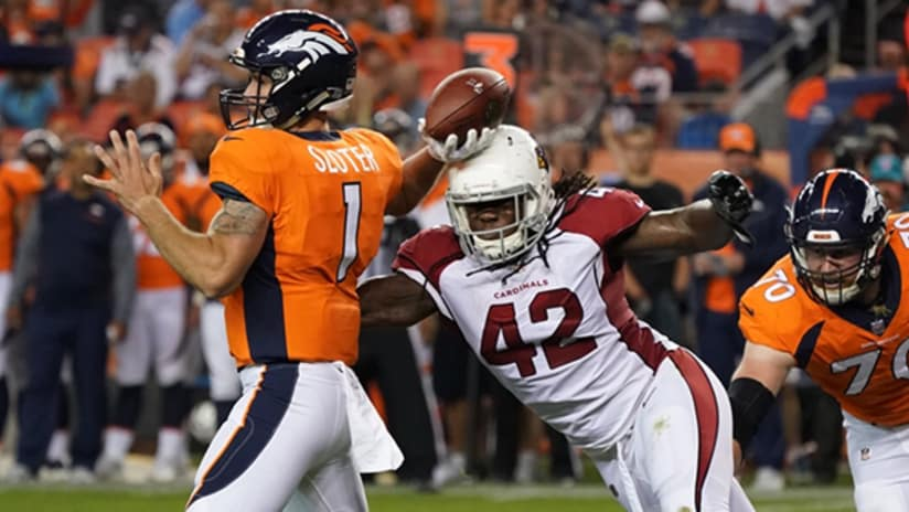 Cardinals linebacker Cap Capi had another strong performance against the  Broncos to wrap up an impressive preseason. fb2088c01f5c