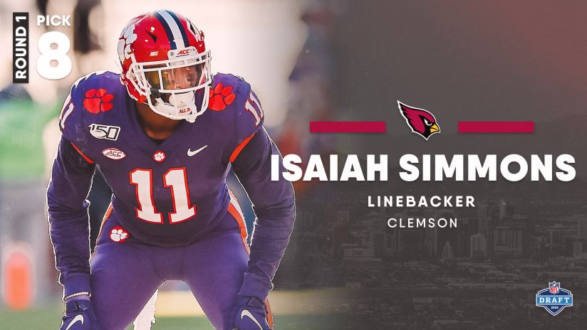 Arizona Cardinals Select Isaiah Simmons With No. 8 Pick In 2020 Draft