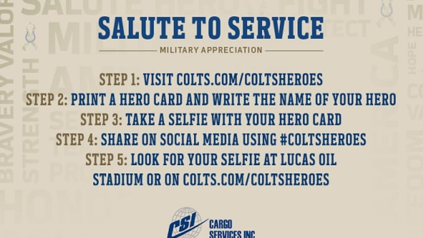 eee8313fd1e ... Inc. are inviting fans to join them in honoring military heroes during  the month of November as a part of the NFL's league-wide Salute to Service  ...