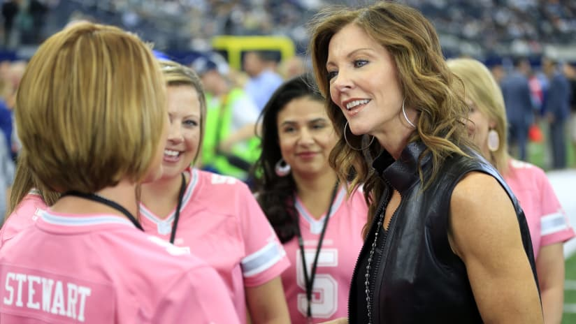 a2898ebd57f Charlotte Jones Anderson, Dallas Cowboys Executive Vice President and Chief  Brand Officer, talks with