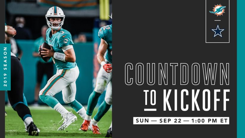best loved 8a697 91d82 Countdown To Kickoff | Dolphins at Cowboys