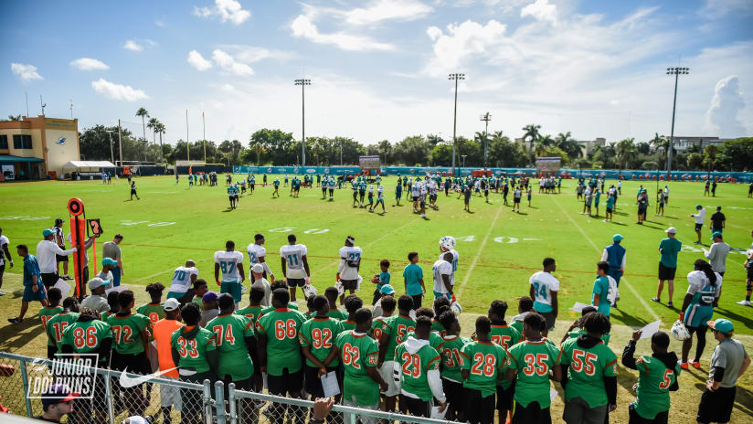 Miami Dolphins Host Blanche Ely High School, PPO Bengals 10U, CCD