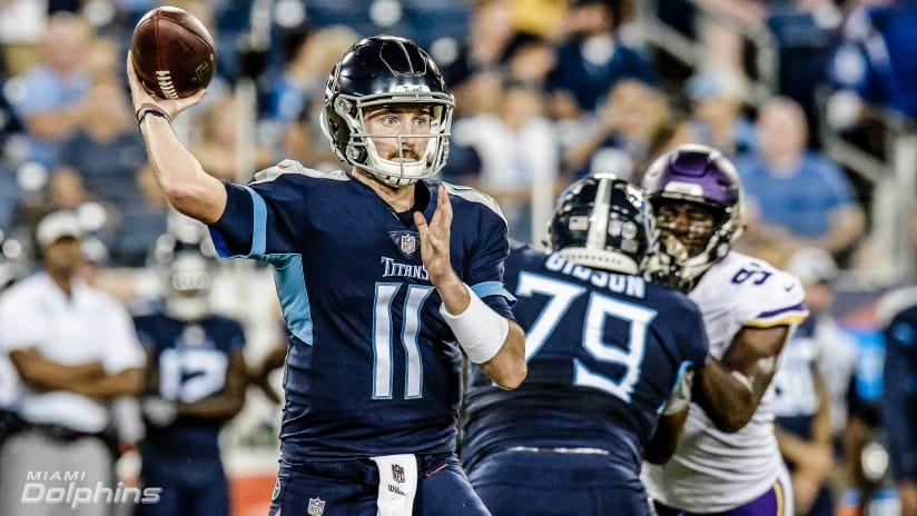 Tennessee Titans quarterback Luke Falk (11) passes against the Minnesota  Vikings in the first 9cb29e08e