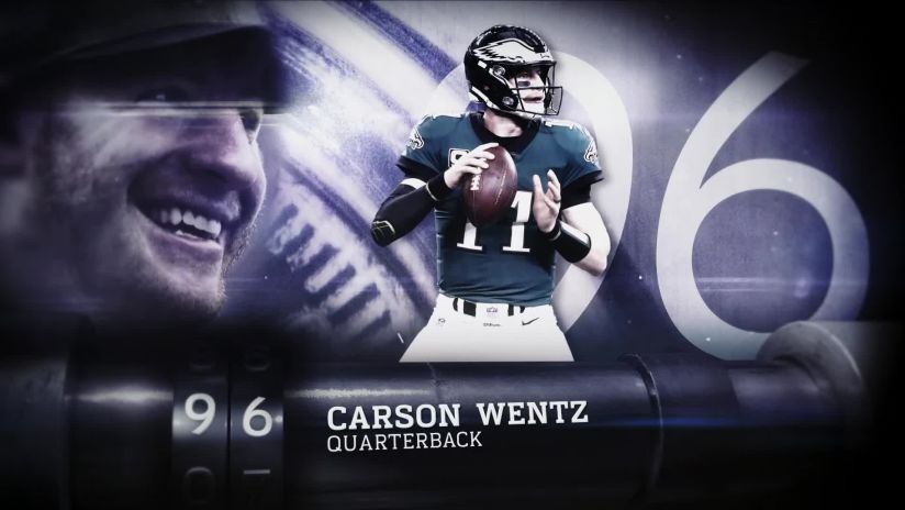 ee6a3ef355fb Philadelphia Eagles quarterback Carson Wentz has been ranked the No. 96  player on