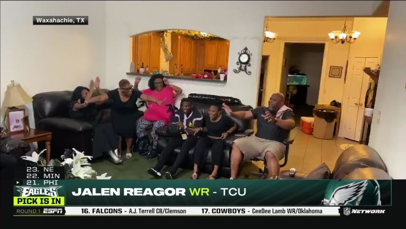 Eagles select TCU wide receiver Jalen Reagor with No. 21 overall ...