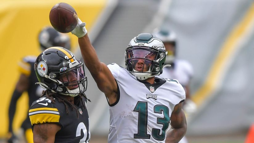 Highlight: Travis Fulgham catches a 31-yard pass vs. Pittsburgh Steelers
