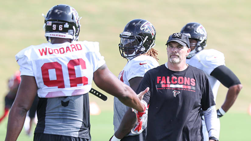 new styles 67ae4 28770 Falcons sign DE Jonathan Woodard to practice squad, place TE ...