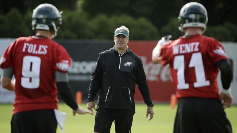 e3eaeee50e4 Eagles coach Doug Pederson on whether Nick Foles or Carson Wentz will start  vs. Falcons: It's an internal thing