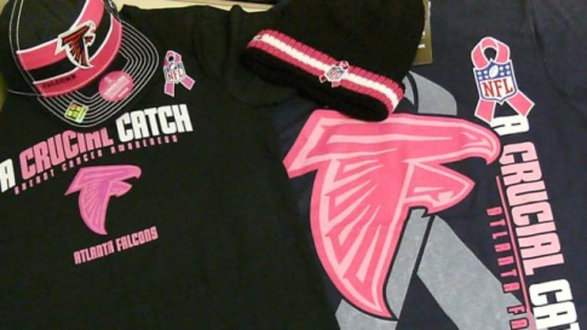 wholesale dealer 03438 eb93e Falcons365 Launches Breast Cancer Awareness Gear