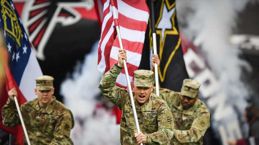 Falcons Honor Military in Salute to Service Game 534aa179f