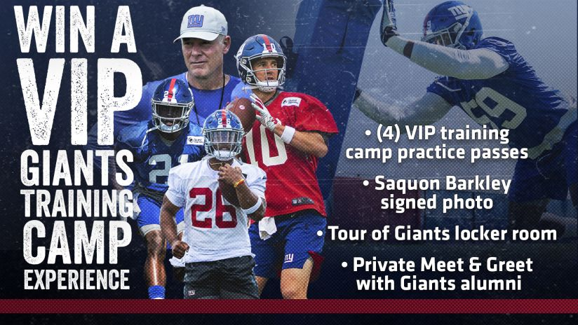 bdeaa10b Enter the Giants Training Camp VIP Experience Sweepstakes