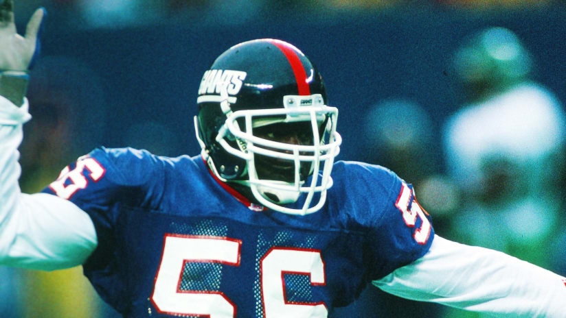 9fc4e66dc4f New York Giants linebacker Lawrence Taylor (56) chases the action during  the NFL football