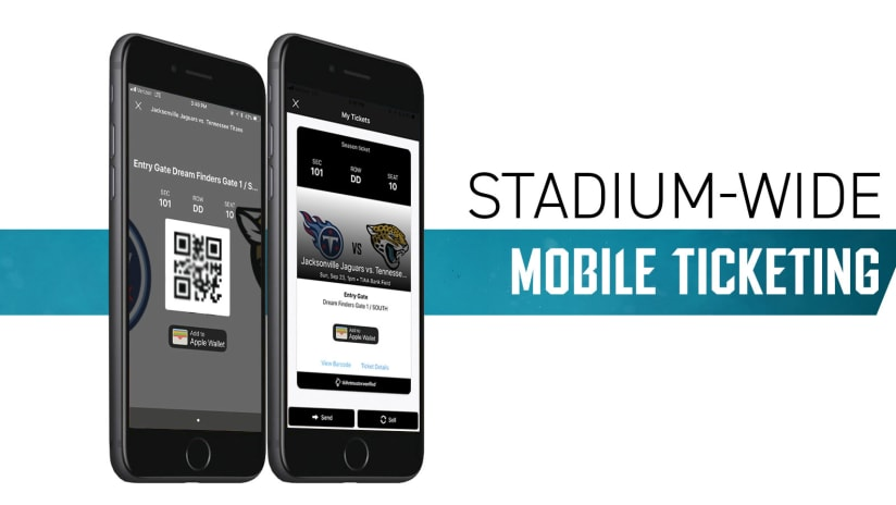 Jaguars Announce Stadium Wide Mobile Ticketing Beginning With 2018 Season