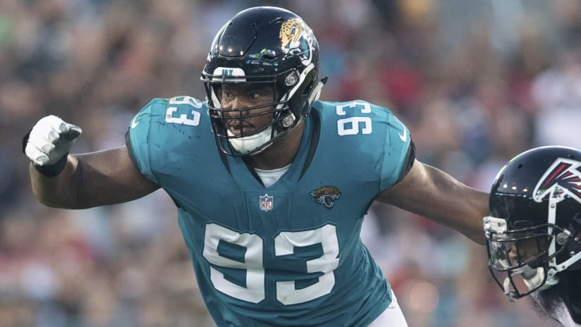Jacksonville Jaguars defensive tackle Calais Campbell (93) makes a move off  the line of c036edb1f