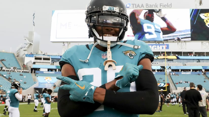 Jacksonville Jaguars cornerback Jalen Ramsey (20) poses for a picture prior  to a NFL a459d8722
